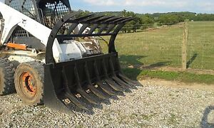 New Bobcat 72 Hd Root Rake Grapple 2 Cylinders Bobcat Attachment