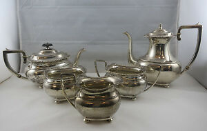 Sterling Silver 925 5 Piece Tea Pot Coffee Set Lord Robert International 2739g