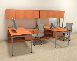 Two Persons Modern Executive Office Workstation Desk Set of con s1