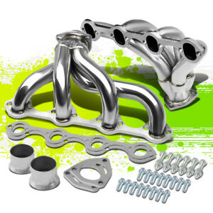 For Ford 289 302 351 Chevy Small Block Hugger Tight Fit Exhaust Manifold Header
