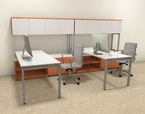 Two Persons Modern Executive Office Workstation Desk Set of con s6