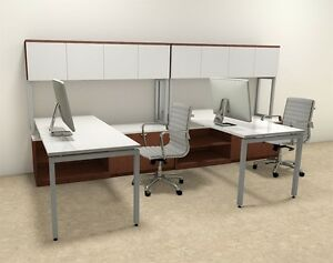 Two Persons Modern Executive Office Workstation Desk Set of con s7