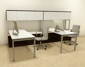 Two Persons Modern Executive Office Workstation Desk Set of con s10