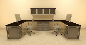 Two Persons Modern Executive Office Workstation Desk Set of con s20