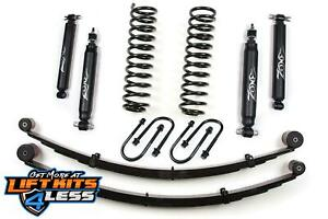 Zone J21n J22n 3 Lift Kit W Rear Leaf Springs For 1984 2001 Jeep Cherokee Xj