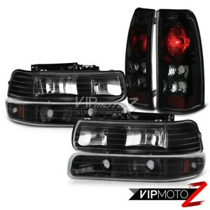 99 02 Chevy Silverado 1500 Sinsiter Black Bumper Signal Headlight Tail Lights
