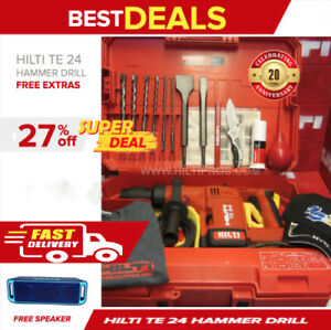 Hilti Te 24 Hammer Great Condition Free Speaker Bits Chisels Fast Ship