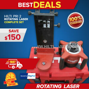 Hilti Pri 2 Rotating Laser laser Level preowned great Cond l k Fast Shipping