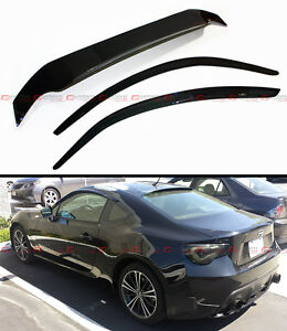 For 2013 17 Scion Fr S Frs Jdm Smoke Tinted Rear Roof Door Window Visor Combo