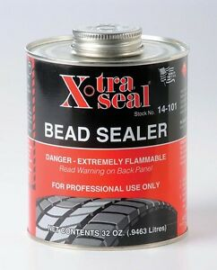 X tra Tire Bead Sealer Black W brush Top Can 1 Quart Professional Xtra Usa