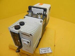 Alcatel 2005 Sd Dual Stage Rotary Vane Vacuum Pump Used Tested Working