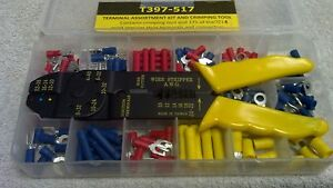 Terminal Assortment Kit With Crimping Tool 175 Most Popular Style Terminals