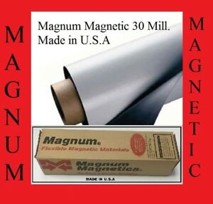 24 Width X8ft Roll 30 Mil Blank Magnetic Sign Sheet Magnum Magnetic Made In Usa