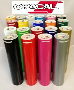 12 Adhesive Vinyl craft Hobby sign Maker cutter 5 Rolls 5 Feet Oracal 651