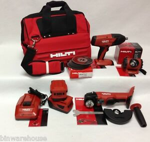 New Hilti 18v Cordless 3 Tool Lithium Ion Combo 21 6v Kit Set 2 5 2ah Batteries