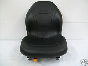 Black Seat Bobcat Ford New Holland case john Deere gehl Skid Steer Loaders ce