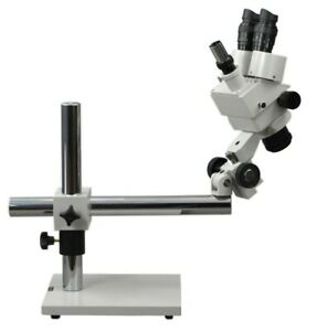Omax Boom Stand Trinocular Stereo Zoom Inspection Microscope 7x 45x