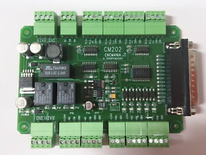 New Cnc Breakout Board Mach3 Cm 202 Parallel Connection Interface Board