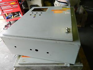 Hoffman Electrical Enclosure Cabinet A 36sa3212lp 36 x31 1 4 x12 D Used