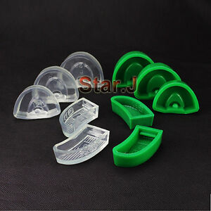 2 Sets Dental Lab Silicone Plaster Model Former Base Molds 5pcs set