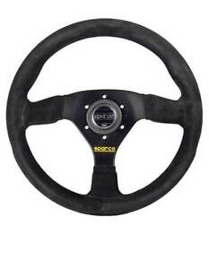 Sparco Competition Steering Wheel 383 330mm Suede Black 015r383psn Authentic