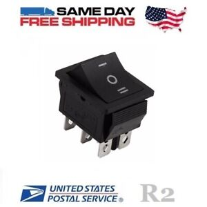Dpdt Double Pole Double Throw 6 pin on off on 20amp Rocker Switch