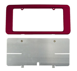 C6 Corvette Custom Painted Rear License Plate Frame Monterey Red 80 80u Wa301n