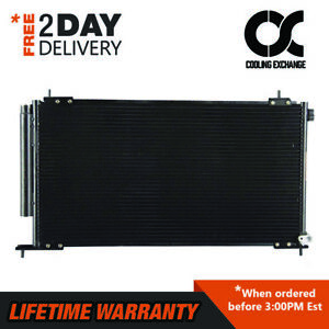 New A c Condenser For Honda Crv 02 06 Element 03 11 2 4 L4 Lifetime Warranty
