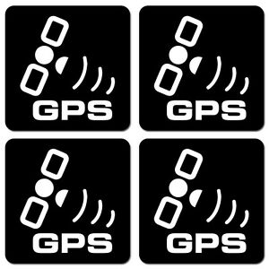 Gps Security System Decal Vinyl Stickers Alarm Protection Surveillance 4 Pcs
