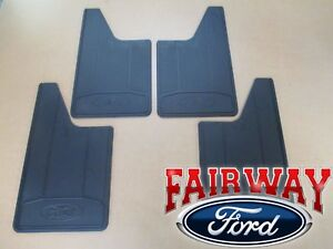11 Thru 14 F 150 Oem Genuine Ford Heavy Duty Splash Guards Mud Flaps 4 Pc Set