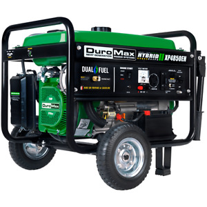 Duromax Xp4850eh 4 850 watt Dual Fuel Hybrid Generator W Electric Start