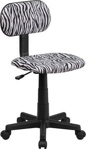 Flash Furniture Black And White Zebra Print Swivel Task Chair