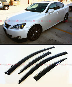 For 2006 2013 Lexus Is250 Is350 Is f Vip Style Clip On Smoke Tinted Window Visor