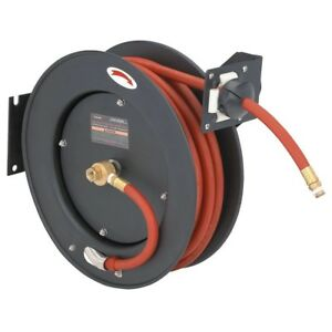 Retractable Air Hose Reel Auto Rewind 3 8 X 25 Compressor 300 Psi New 0 Ship