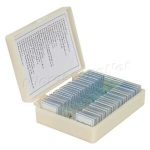 25pc Prepared Basic Science Microscope Slides With Storage Box