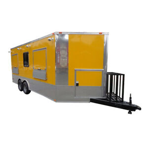 Concession Trailer 8 5 x18 Yellow Event Catering Vending Food