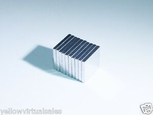10pcs 15 X 15 X 2mm Square Rare Earth Neodymium Super Strong Magnets Craft Model