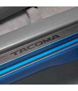 Toyota Tacoma Door Sill Protectors Genuine Factory Oem Black New 2005 2013