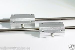 2 8mm 17 3 4 Hardened Shafts 2 Long Pillow Blocks Rod Rail Linear Bearing Motion