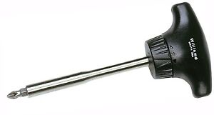 T handle Ratcheting Screwdriver 3 7 8 blade Length Philips Williams Usa Wrst4