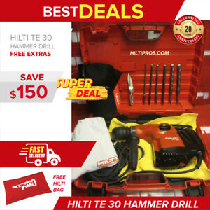 Hilti Te 30 Hammer Drill Preowned mint Cond free Bits Fast Shipping