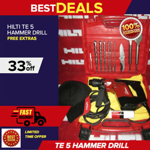 Hilti Te 5 Hammer Drill Preowned Made In Germany Free Bits Fast Ship