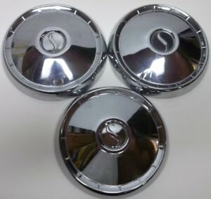 1959 Studebaker 10 Inch Dog Dish Poverty Hubcaps Wheel Covers Original D
