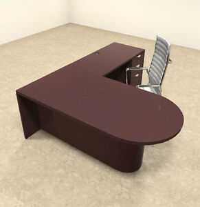 3pc Wood Modern L Shaped Executive Office Desk Set ot vet l4