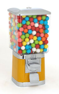 Pro Single Vending Machine And Stand Yellow With Gumball Wheel