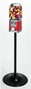 Barrel Bulk Vending Machine Single Stand Black With Gumball Wheel