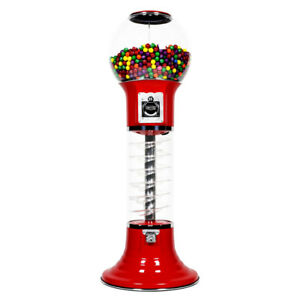 5 Deluxe Whirler Spiral Gumball Machine Red