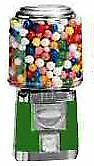 Single Barrel Candy Bulk Vending Machine Green