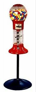 Lil Whirler Spiral Gumball Machine With Stand Red