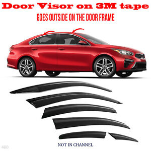 Kia Forte 2019 2021 Window Wind Deflector Door Visor Rain Sun Guard Vent 6pcs